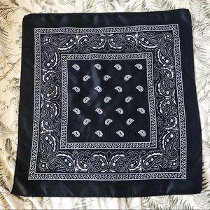 Black paisley bandana/scarf